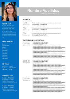 Modelo curriculum vitae argentina word